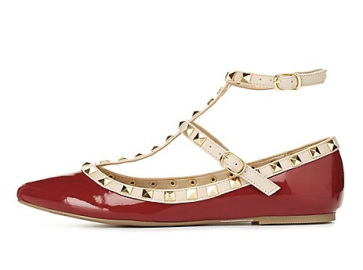 red-studded-flat