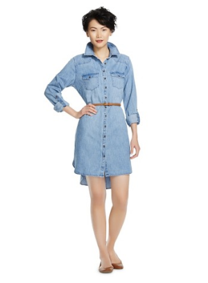 Belted-Denim-Shirt-Dress