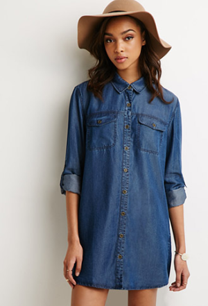 Chambray-Shirt-Dress