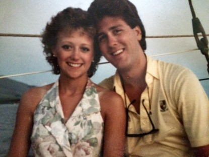 Could my parents be any cuter? Even on her honeymoon excursion in the 80's she was adorable!