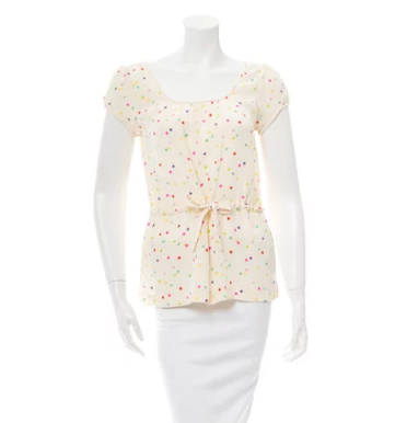 Kate Spade Multi Colored Dot Blouse