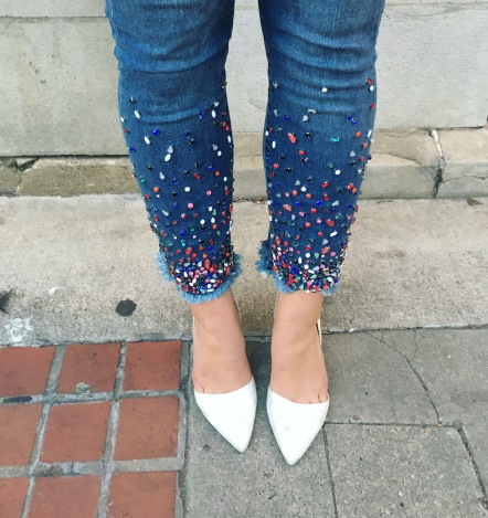 Close Up Embellished Jeans Anthropologie